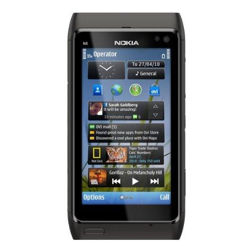 Nokia N8, Smartphone, GSM/EDGE, Bluetooth 3.0, colore: Nero [Importato da Francia]
