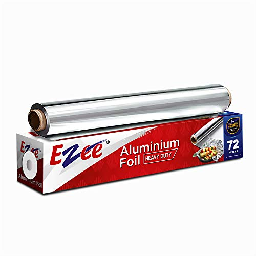 Ezee Aluminium Foil for Kitchen| Perfect for Cooking, Baking and Packing Food - 72 Mtr 14 Micron