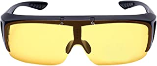 ZEVONDA Night Vision Glasses for Driving - Myopia Polarized Sunglasses Night Driving Glasses Fit Over Prescription Eyeglasses 100% UV400 Protection