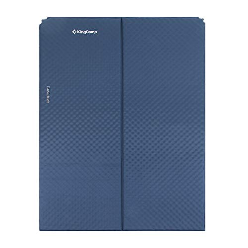KingCamp Classic Double Light Self-Inflating Camping Sleeping Pad, Foldable Foam Sleeping Mat for Outdoor, Picnic