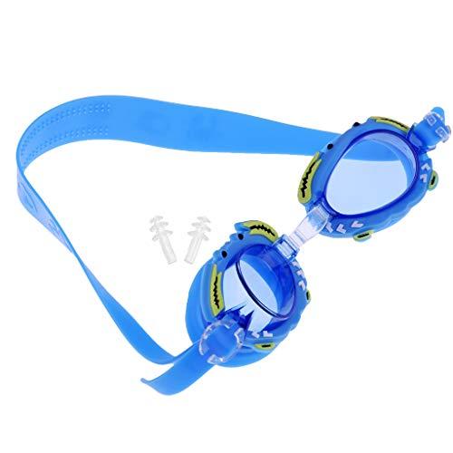 Milageto Gafas de Natación Impermeables para Niños, Niñas, Niños, Gafas de Natación, Montura de Silicona, Rosa - Azul