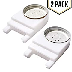 FROM AN AMERICAN COMPANY: A 2-pack of the most popular type of plastic bee feeder for beekeepers; it makes feeding bees water or sugar syrup easy for the beekeeper, an essential part of your supplies. Fits most Langstroth bottom boards including Mann...