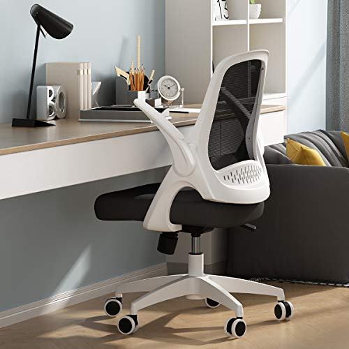 Hbada Office Task Desk Chair Swivel Home Comfort Chairs with Flip-up Arms and Adjustable Height,...