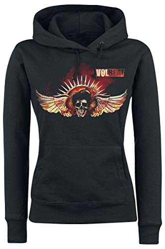 Volbeat Burning Skullwing Kapuzenpullover schwarz M