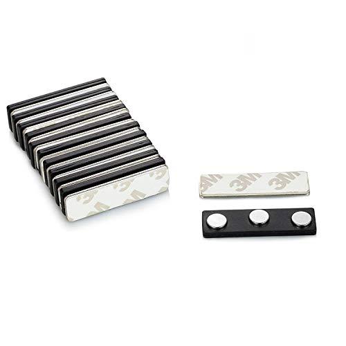 Aitsite マグネットプレート 超強力ネオジム磁石板 板片面粘着テープ付 スチール板セット アクリル板 10個入