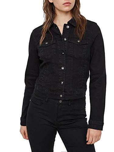 Vero Moda Vmhot SOYA LS Denim Jacket Mix Noos Chaqueta, Negro (Black Black), 38 (Talla del Fabricante: Small)...