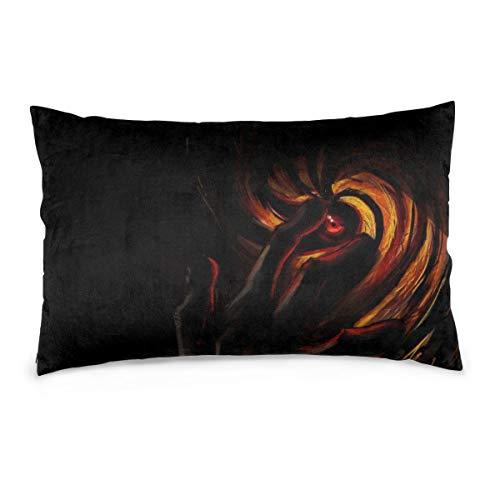 YudoHong Naruto Shippuudenmasksharingananime Throw Pillow Case Cover Cojín Funda de Almohada Decorativa para sofá Dormitorio Sala de Estar