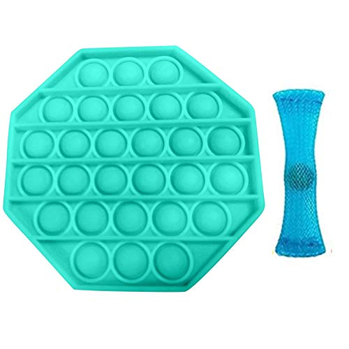 Stress Reliever Autism Fidget Toy Push Bubble Sensory Octagon Toy AntiAnxiety Toys for The Old and The Young,Special Education School Supplies