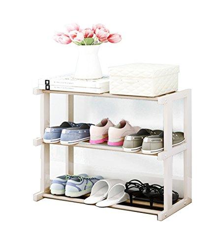 Organizador de Madera con Organizador para Zapatos, Ideal para pasillos, baños, Salas de Estar, dormitorios y pasillos, 66 x 30 x 60 cm, 66 x 30 x 71 cm (Color : White, Size : 3-Tier)