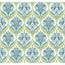 York Wallcoverings MS6425 Modern Shapes Basilica Wallpaper, White, Aqua, Blue, Teal, Yellow/Green by York Wallcoverings