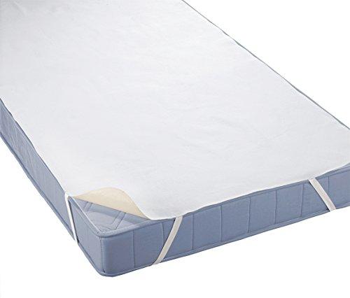 biberna Sleep & Protect 0808315 Matratzenauflage Molton (blut-, urin- und wasserundurchlässig), empfehlenswert für Allergiker 1x 180x200 cm weiß