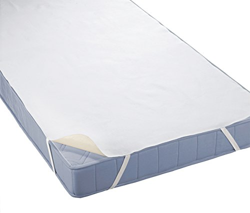 biberna Sleep & Protect 0808315 Molton Matratzenauflage (blut-, urin- und wasserundurchlässig) 70x140 cm, weiß