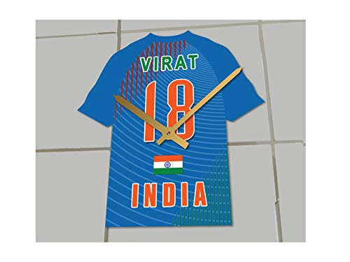 FanPlastic Virat Kohli 18 Indien Cricket Jersey Uhr – Cricket Legends Limited Edition – Welten Nummer 1.