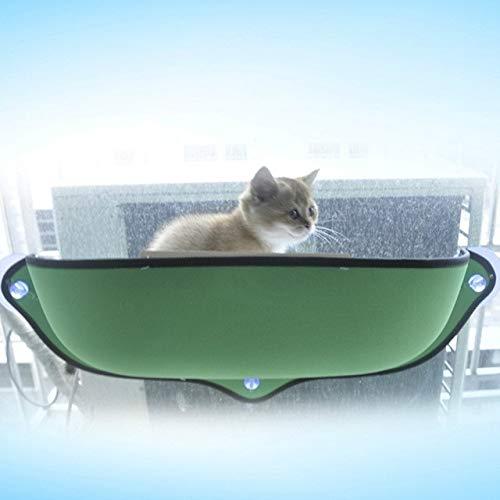 2 PCS Cat Fenster Hammock for Haustier-Removable Katze Fenster Bett Hängematte Katze Hängematte Fenster Bett (Grün) Huangchuxin (Color : Green)