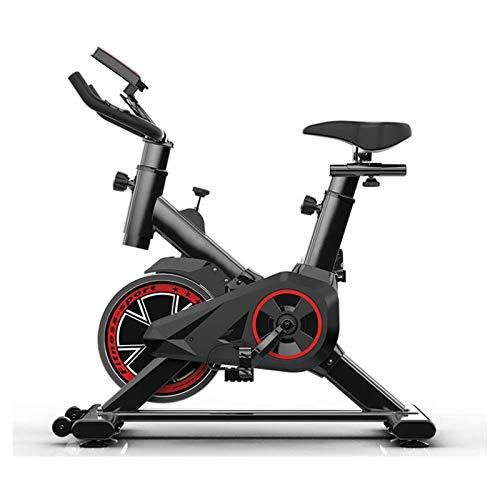 DJDLLZY Bicicleta estática para interiores y ciclismo, monitor LCD, cómodo cojín, silencioso para entrenamiento cardiovascular en casa