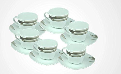 - Lot de 6 tasses 20 cl + sous-tasses 14,5 cm nevada