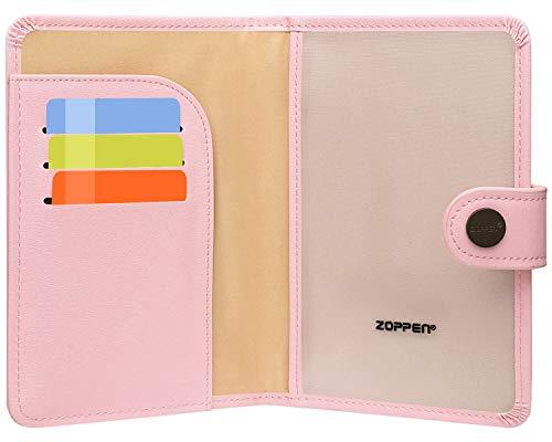 Zoppen Rfid Blocking Travel Passport Holder Cover Slim Id Card Case (#9 Pink)