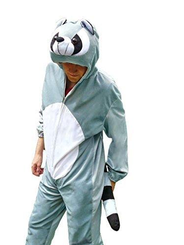 Waschbär-Kostüm, J21 Gr. L-XL, Fasnachts-Kostüme Tier-Kostüme, Wasch-bär Kostüme Wasch-bären Kostüme Faschingskostüm, Fasching Karneval, Faschings-Kostüme, Geschenk Erwachsene