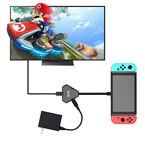 YesOJO Dongle Portable Dock for Nintendo Switch for Nintendo Switch, HDMI Type-C Hub Adapter USB-3.1 Hub HDMI Output Video Audio AV Charging Port Converter Cable for Smartphone PC Tablet
