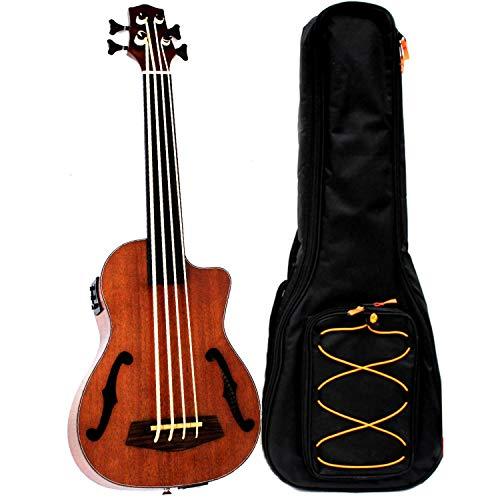 Instrumentos de caoba con ecualizador para ukelele de concierto de 30 pulgadas y 4 cuerdas