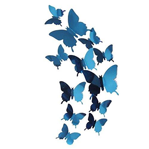 ZODOF 3D Pegatinas de Mariposa Pegatinas de Pared Etiquetas Engomadas Multicolores Mariposas Decoración de La Pared para Casa Habitación