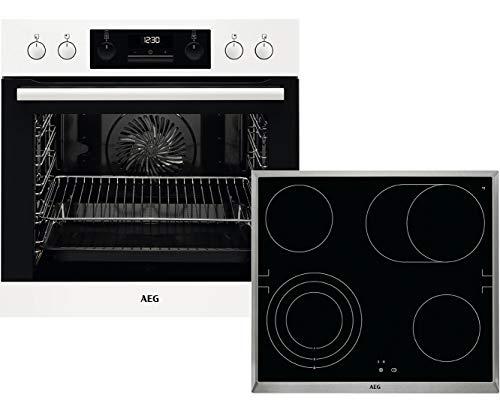 AEG HB3013WS31 Einbauherd-Set mit Glaskeramik-Kochfeld, Weiß