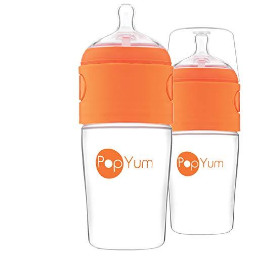 PopYum 9 oz Anti-Colic Formula Making / Mixing / Dispenser Baby Bottles, 2-Pack
