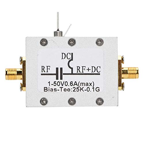 DC block, bias tee 25K-100MHz, coaxiale RF hoogfrequente microgolf bias