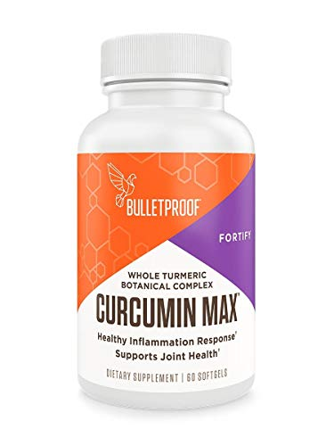 Bulletproof Curcumin Max, Bioavailable Natural Turmeric Complex, Ginger, Boswellia, Stephania, Enhanced Absorption Brain Octane MCT Softgels (60 Softgels)