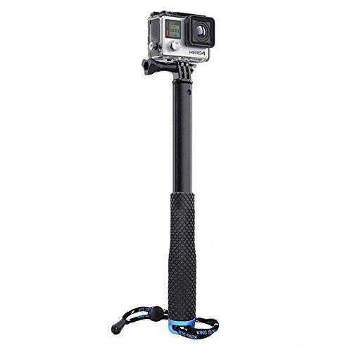 wetterfest ausziehbar Teleskop Einbeinstativ Aluminium Selfie Stick GoPro Zubehör Handheld Pole Tripods Mount für GoPro Hero 233+ 45, GoPro Hero 4Session (28,6cm–94cm)