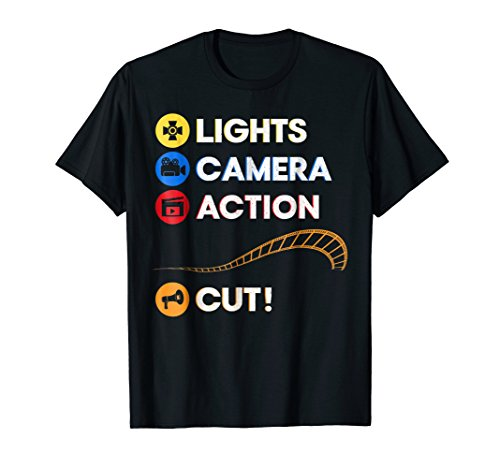 Lights Camera Action Cut | Funny Film Director Tee
