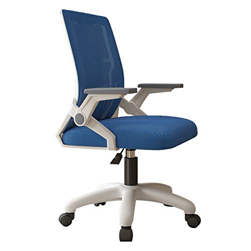 DXZ-Design Home Office Chair Mesh Swivel Chair Ergonomic Mid-Back Computer Desk Chair with Flip Up Armrest, Adjustable Height 360° Swivel Study Chair