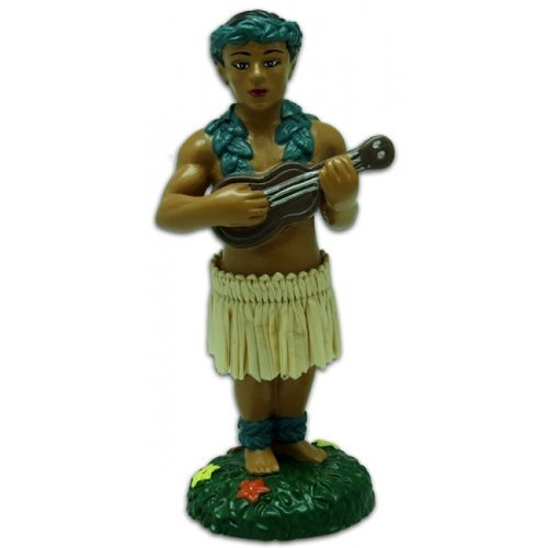 Hawaiian Hula Boy with Ukulele Miniature Dashboard Doll
