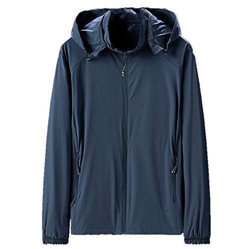 U/A Spring Light Jacket Top Homme Grand sweat à capuche respirant Sports de plein air - Bleu - XL