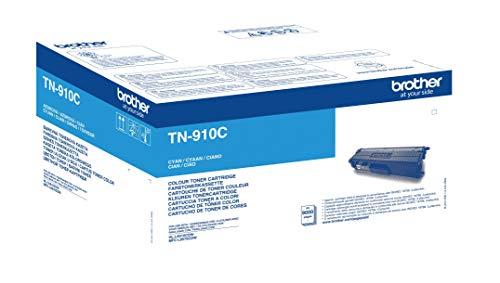 Brother Original Ultra-Jumbo-Tonerkassette TN-910C cyan (für Brother HL-L9310CDW, HL-L9310CDWT, HL-L9310CDWTT, MFC-L9570CDW, MFC-L9570CDWT) 9000 Seiten