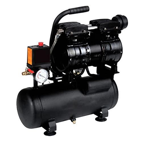 WUK Compresor de Aire de bajo portátil Bomba Dental 550 / 800W Pintura en Aerosol para carpintería Herramientas neumáticas Compresor de Aire sin Aceite 8L Pequeño de Alta presión 220V