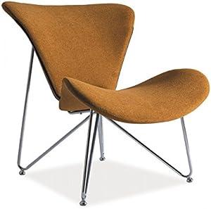 Jadella Sessel 'Almere' TV-Sessel Loungesessel Orange, Farbe:Senf