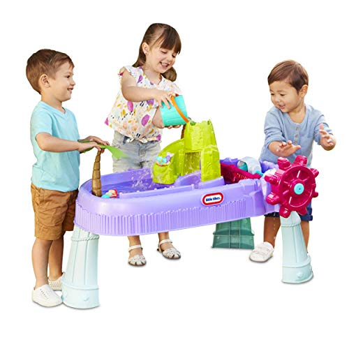 Little Tikes Mermaid Island Wavemaker Water Table with Five Unique Play Stations and Accessories, Multicolor