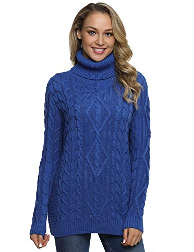 (50% OFF Coupon) Women's Cable Knit Turtleneck $18.00