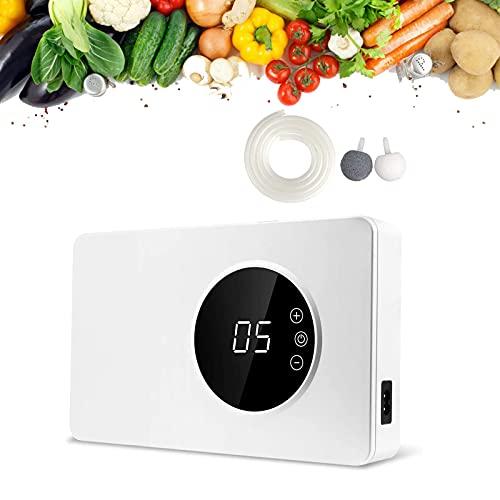 ZKHD Inicio Mini Generador ozono purificador de 2021 nuevos de 400 MG/h ozono purificador esterilización Desodorante con el Temporizador Verduras limpias,Frutas,Carne,Agua