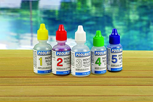 Poolmaster 23227 Replacement Indicator Solutions #1 - #5 For Spa or Swimming Pool Water Testing