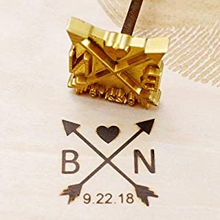 2x2 Custom Logo Wood Branding Iron,Durable Leather Branding Iron Stamp,BBQ Heat Stamp Including The Handle,Antlers Design Stamp