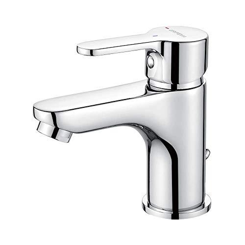GRIFEMA PORTO-G11003 | Badarmatur - Bad Wasserhahn, G3/8\'\' Anschlüsse | Einhand-Waschtischbatterie, Komfort-Höhe (75 mm), Messing/Chrom