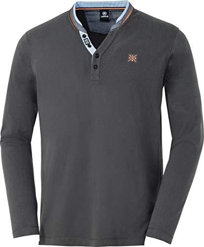 LERROS Serafino-Langarmshirt, aus Reiner Baumwolle, farbsattes Oberteil für Männer, formstabiles & weiches Jersey-Gewebe, Regular fit, Gr. M - 3XL