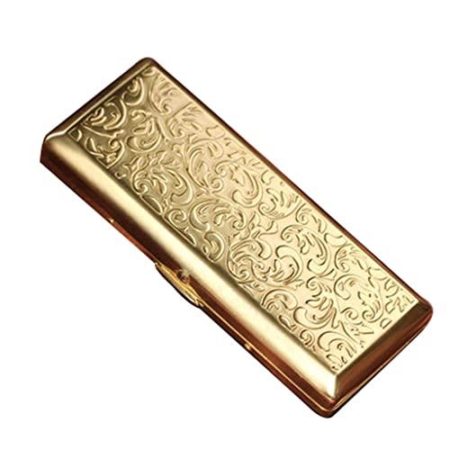 aedouqhr Caja de cigarros Caja de Cigarrillos - Caja de Cigarrillos Acero Inoxidable Metal Estilo de diseño Moderno y Simple Ideal para Hombres y Mujeres de Negocios Estuches de Cigarrillos -1 (Color