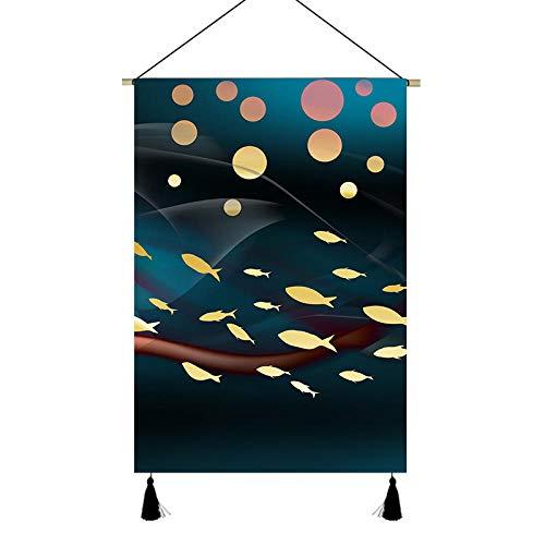 PJX Wohnzimmer-Dekoration, Stoffmalerei, Sofa-Hintergrund, Wand, 3 moderne, minimalistische Atmosphäre, Wandmalerei, Veranda, Malerei, 4565 cm