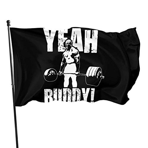 AOOEDM Yeah Buddy - Ronnie Coleman - 62 Flag Banner 3x5 Feet Grommets Tough Durable Fade Resistant for All Weather Outdoor