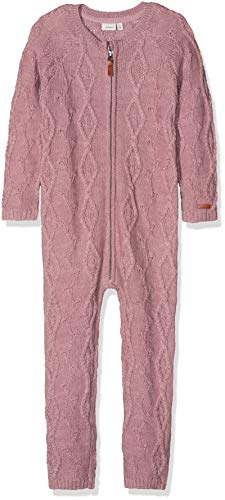 NAME IT Mädchen NMFWRILLA Wool LS Knit Suit NOOS Overall, Rosa (Woodrose Woodrose), 110