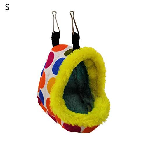 Koobysix Vogelbenodigdheden Vogelnesthuis Winter Warm Hangend Bed Grot voor Parakeet Hamster Slaapzak Geschenken voor Je Vogel S