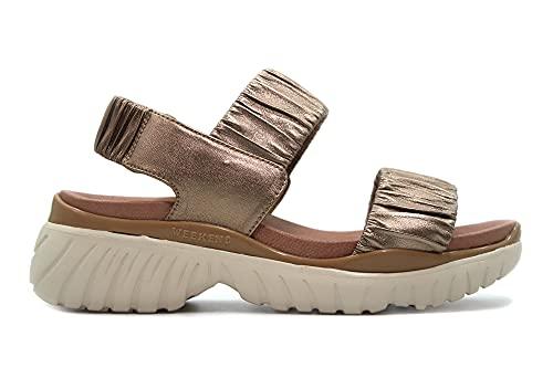 PEDRO MIRALLES - 15025 Napa Metal Humo - Sandalia deportiva, con elástico al tobillo, suela de goma, para: Mujer color: METAL HUMO talla:40